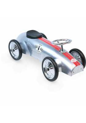 Silver racing car