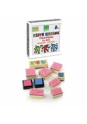 Tampons Keith Haring en coffret bois *