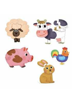 Farm puzzles for little kids