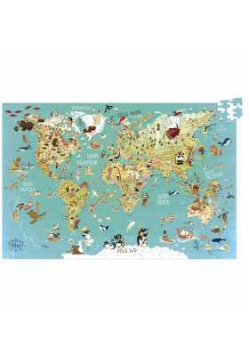 Puzzle carte du Monde fantastique (500 pcs)