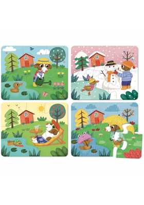 Four seasons wooden puzzle