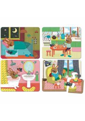 Puzzles de la maison - coffret bois (4 x 6 pces)