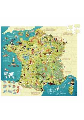 Puzzle Carte des merveilles de France (300 pcs)