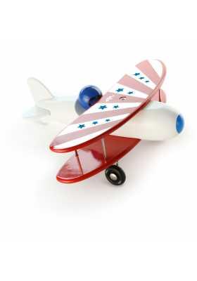 Avion bi-plan corps blanc *