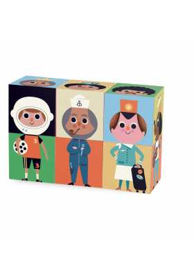 6 Cubes rigolos par Ingela P.Arrhenius