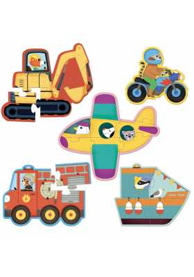 Fire truck puzzles for little kids