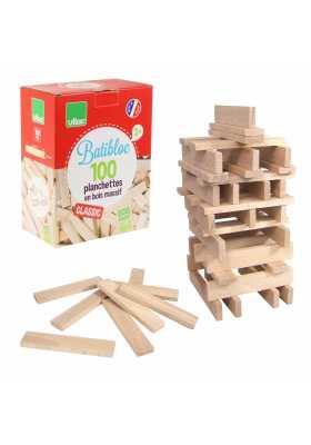 100 natural wood pieces set