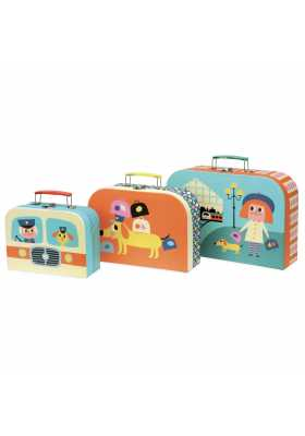 Set de 3 valises gigognes carton par Ingela P.Arrhenius