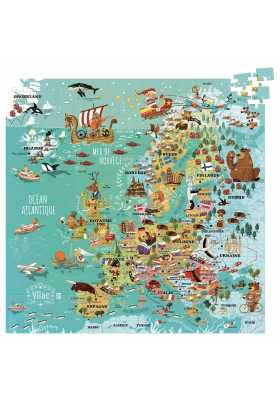 Europe map (cardboard puzzle) (French version)