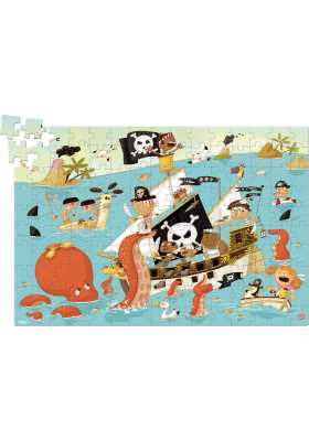 Pirate 150 pieces wood puzzle