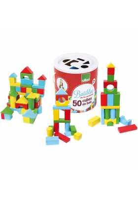 Batibloc 50 cubes en bois*