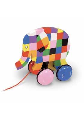 Elmer pull toy