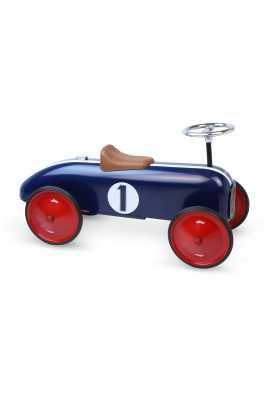 Porteur voiture vintage bleue*
