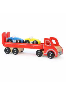 Truck & Trailer with 2 cars